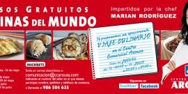 El CENTRO COMERCIAL AROUSA ORGANIZA CLASES GRATUITAS DE COCINAS DEL MUNDO