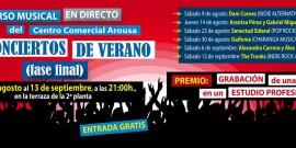 SEIS PROMESAS DE LA MÚSICA GALLEGA COMPITEN  PARA CONVERTIRSE EN GANADORES DEL CONCURSO LOS CONCIERTOS DE VERANO DEL C.C. AROUSA