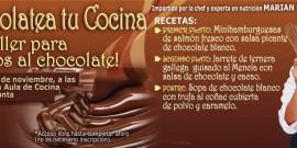 EL CHOCOLATE Y SU APLICACIÓN EN LA COCINA SALADA, EN  EL AULA DE COCINA DEL CENTRO COMERCIAL AROUSA