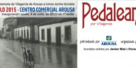O Faiado da memoria estrena la exposición Pedaleando por Vilagarcía en el Centro Comercial Arousa