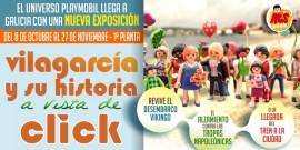 El Centro Comercial Arousa acoge la primera exposición de clicks de Playmobil sobre Vilagarcía y su historia