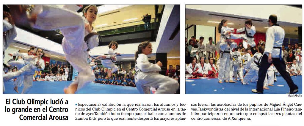 Exhibición taekwondo